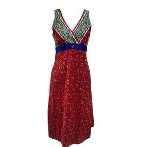 Cabernet Women's Sleeveless V-Neck Red Dress